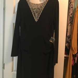 Long sleeve beaded dress